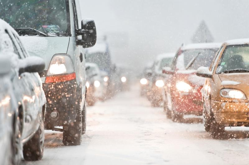 winter cars traffic